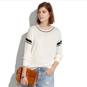 Madewell • Stripe Inset Pullover Sweater • XS